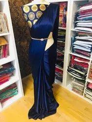 Moksh Creation Satin Silk Saree, Size: 5.5 Mtr