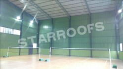 Badminton Shuttle Court Roofing Sheds