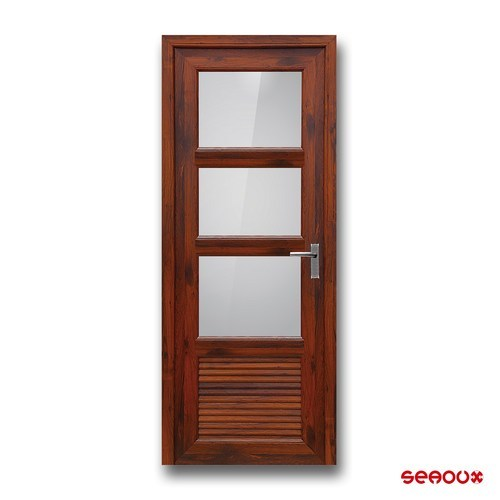 Hard Wood, Glass Interior Seaoux Decorative Hard Wood  Door, For Home