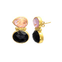 Hot Fine Fashion Earring Stud Gemstone Womens Ear Jewelry Gold Plated Model