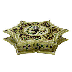 A Beautiful Meenakari Star Shape Dry Fruit Box