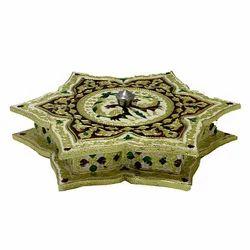 A Beautiful Meenakari Star Shape Dry Fruit Box