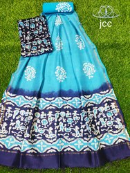 Unstitched Chanderi Cotton Suit Material