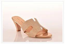 Elegent Kitten Heel Slip On Sandals