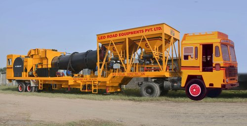 PORTABLE DRUM MIX ASPHALT PLANT - 40-60 TPH Portable Drum Mix