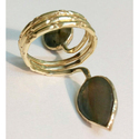 Handmade Labradorite Gemstone Spiral Ring Jewellery