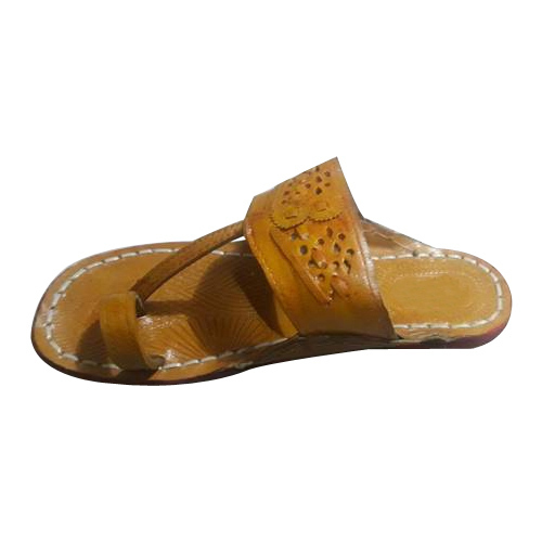 c4edfe09b791 Leather Designer Kolhapuri Slippers, Rs 180 /pair, Samardhi Sales ...