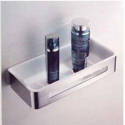 Stainless Steel Rectangular Corner Shelf