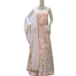 Dress 59 Georgette Ladies Party Wear Dress