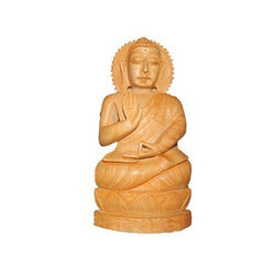 Wooden Hand Work Lord Buddha