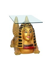 Egyptian Lion Coffee Table -with Glass