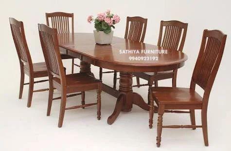 Brown Designer Wooden Dining Table Rs 54000 Set