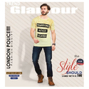 Mens Cotton Round Neck Printed T Shirt