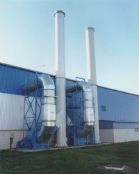 Stainless Steel Fabric Dust Collector Fume Exhaust System