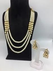 Green Party Wear Antique Handmade Kundan Necklace Set