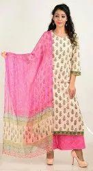 Hand Block Print Cotton Dress Material