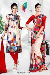 Women Uniform Sarees and Salwar kameez Combo