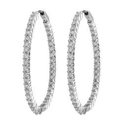Oval Shaped Hoop Earrings
