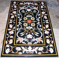 Black Marble Inlaid Table Tops