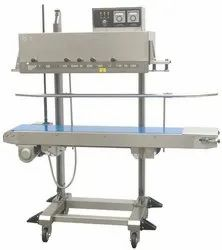 Semi-Automatic MS Continuous Band Sealing Machine, For Industrial, Vertical