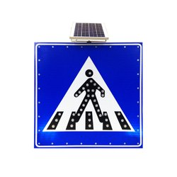 Aluminium Solar Traffic Sign Board