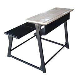 Wood School Bench Perforated Seat
