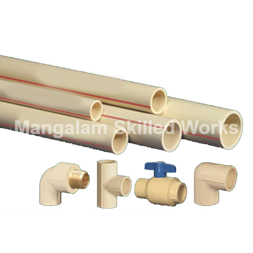 CPVC Pipe Installation Work, Oil and Gas Pipeline Construction