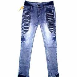 Stretchable Ladies Designer Denim Jeans, Waist Size: 30 and 32
