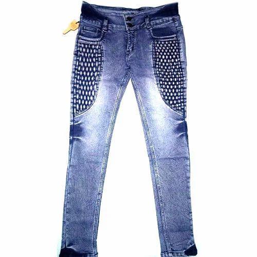 730c8ab2ac54c Stretchable Ladies Designer Denim Jeans