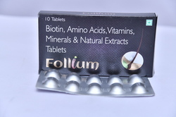 Biotin, Amino Acids, Vitamins, Minerals & Natural Extracts Tablets