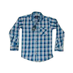 Spartan Army Mens Cotton Readymade Check Shirt, Size: M, L and XL