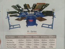 Cmyk Photo Print Possible Powder coated T-Shirt Printing Machine, Model Name/Number: BCP8C