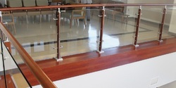 Wooden Baluster Glass Handrail