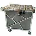 Stainless Steel  Tea Snack Trolley