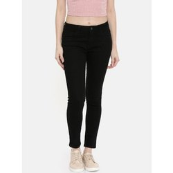 Slim Black Ladies Casual Wear Denim Jeans, Waist Size: 28 to 36