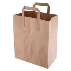 Handled Brown Plain Paper Carry Bag