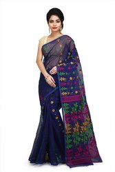 6.5 M ( WITH BLOUSE PIECE) Festive Wear Handloom Jamdani Sarees