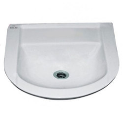 White Ceramic Andor Wash Basin Wall Hung, Shape: Round