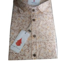 Printed Cotton Mens Slim Fit Shirt
