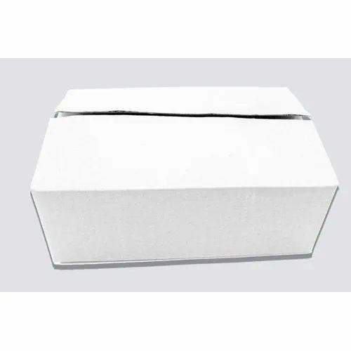 Single Wall - Rectangle 3 Ply White Corrugated Box 8.5 x 6 x 3 Inch