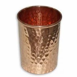 300 ML Copper Hammered Glass