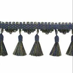 24 Peacock Mix Swirl Cascade Tassels Fringe