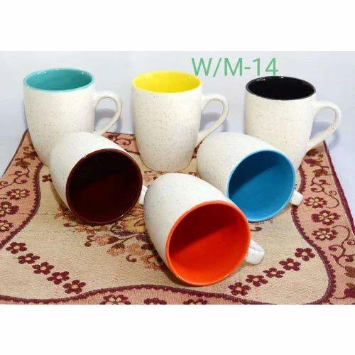 5b446c5bc32 Ceramic Mug - White Matte Milk Mug Manufacturer from Khurja