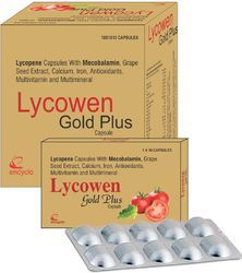 Lycopene Capsules With Mecobalamin Grape Seed Extract Calcium Iron Antioxidants Multivitamin