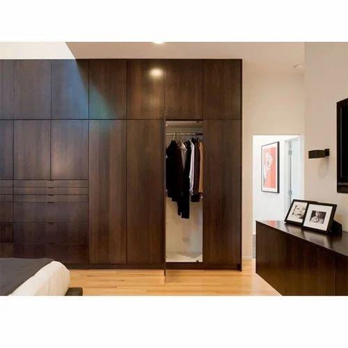 Brown Wooden Bedroom Wardrobe, Rs 1500 /square feet, Shree Laxmi ...