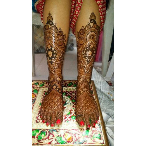 Bridal Foot Mehndi Design Services in Gurgaon, Ajay Mehandi