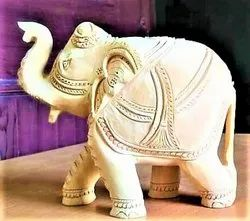 Aaditya Exports Molded Fiber Solid Elephant for Decoration, Size: 5