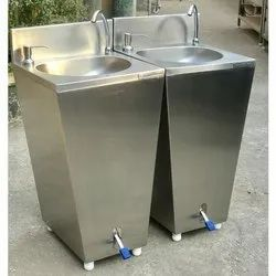 Foot Operated Hand Wash Sink Facility SS-304