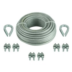Galvanized 500 Mm/Reel 304 Fitting Wire Rope, Diameter: 1-10 Mm