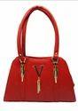 Red Leather Design Party Handbag